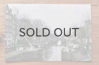オリジナルポストカード/アムステルダム・・・運河とカナルハウス