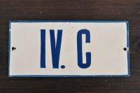 チェコ・古いTINナンバープレート/IV.C(手書き)