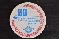 チェコ・古いペーパーコースター/JEDNOTA80LET」