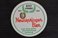 ドイツ・古いペーパーコースター/NeunspringerBier