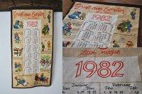 ドイツ・ヴィンテージ 壁掛けカレンダークロス/1982年 ファミリー