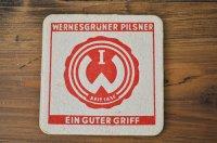 ドイツ・古いペーパーコースター/WERNESGRÜNER PILSNER