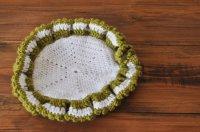 ◆40%off◆ドイツ・おばあちゃんの手編みポットマット/フリル