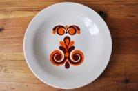◆50%off◆ドイツ・GDR(東ドイツ)CP社 スーププレート/オレンジ×こげ茶の模様