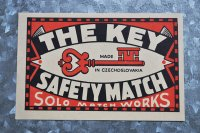 チェコ・マッチラベル 大きめ/THE KEY/チェコスロバキア