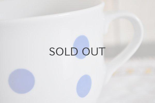 画像2: ◆50%off◆ルーマニア・APULUM大きなマグカップ/ブルー水玉