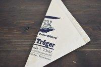 ドイツ・DDR時代(旧東ドイツ)の三角紙袋/EduardTröger/珈琲豆3枚セット