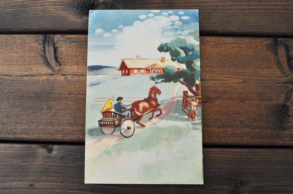画像1: オランダ・ヴィンテージポストカード/1957年/馬車