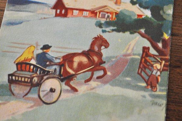 画像2: オランダ・ヴィンテージポストカード/1957年/馬車