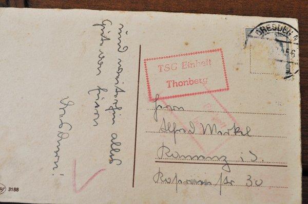 画像3: ドイツ・ヴィンテージポストカード/花を持った少女