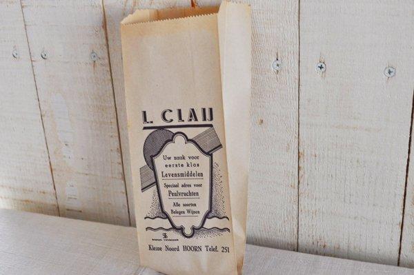 画像4: オランダ・ヴィンテージ紙袋/L.CLAIJ/白×青/B