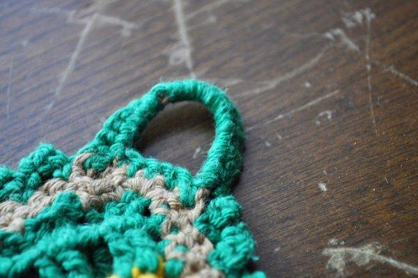 画像3: ドイツ・ヴィンテージ  手編みの鍋つかみorポットマット/グリーン×イエロースクエア