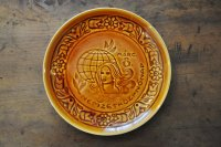 ハンガリー・GRANIT陶器の絵皿/キャラメル色