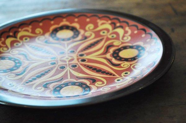 画像2: ドイツ・CP社 ヴィンテージ陶器の絵皿/フォークロア/赤