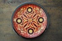 ドイツ・CP社 ヴィンテージ陶器の絵皿/フォークロア/赤