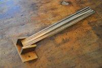 ドイツ・アンティーク 木製キッチンタオルハンガー6連/無塗装(汚れあり)
