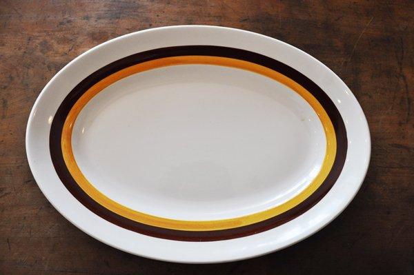 画像1: フランス・MOULLN DES LOUPS(ムーラン デ ルー) 楕円大皿/ライン