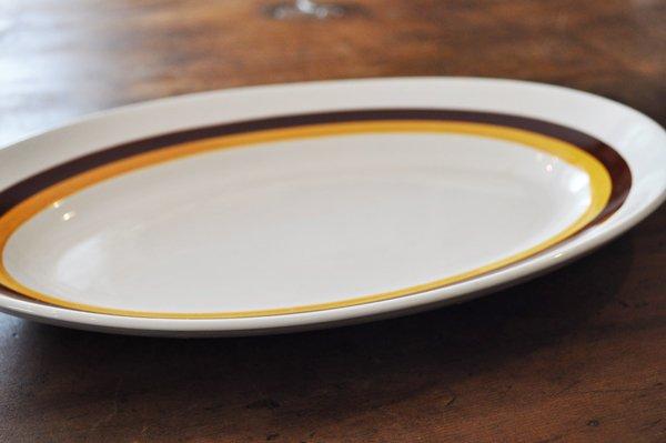 画像2: フランス・MOULLN DES LOUPS(ムーラン デ ルー) 楕円大皿/ライン
