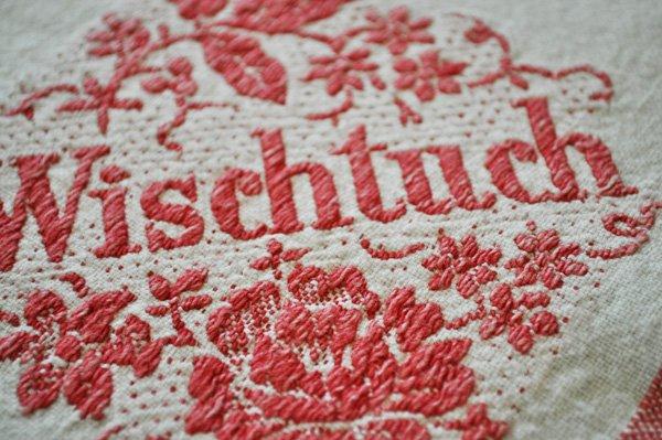 画像3: ドイツ・ヴィンテージ 赤い刺繍のキッチンクロス/Wischtuch