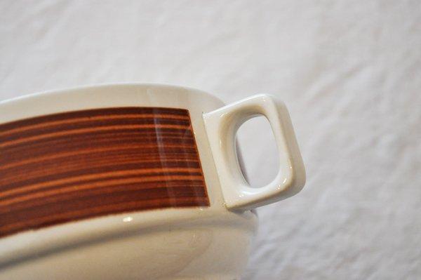 画像4: ベルギー BOCH(ボッホ)持ち手付スープカップ/ブラウンライン