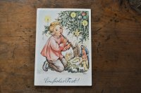 ドイツ・ヴィンテージ ポストカード/クリスマス/ラッパを吹く少女