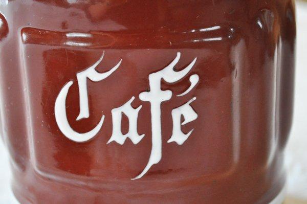 画像2: フランス・アンティーク ホーロー エナメル キャニスター/Cafe