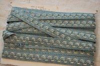ベルギー・ヴィンテージ 刺繍トリムリボン/水色