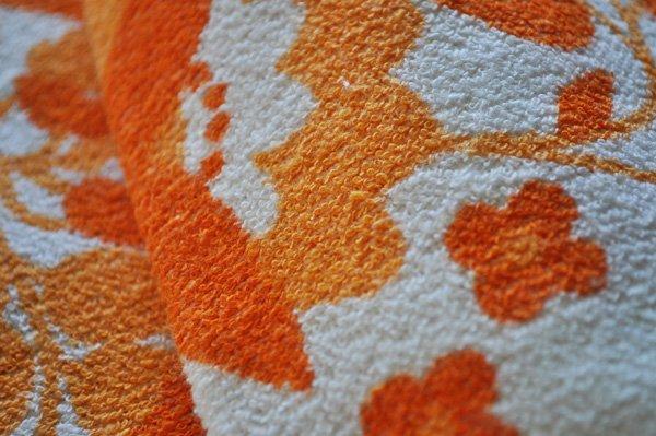 画像3: ドイツ・東ドイツ ヴィンテージ デッドストックタオル/VEB/白×オレンジ花