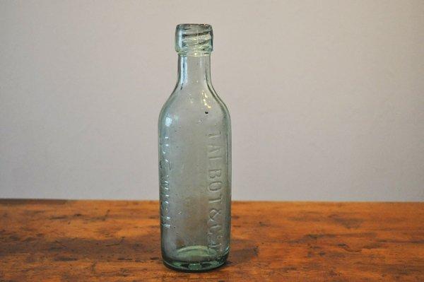 画像1: イギリス・アンティーク ガラスボトル/グリーン/TALBOT&CoLtd