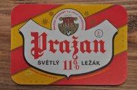 チェコ・古いお酒のラベル/Prazan