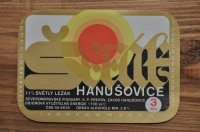 チェコ・古いお酒のラベル/HANUSOVICE