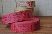 ドイツのチケット/ラズベリーレッド 10枚セット